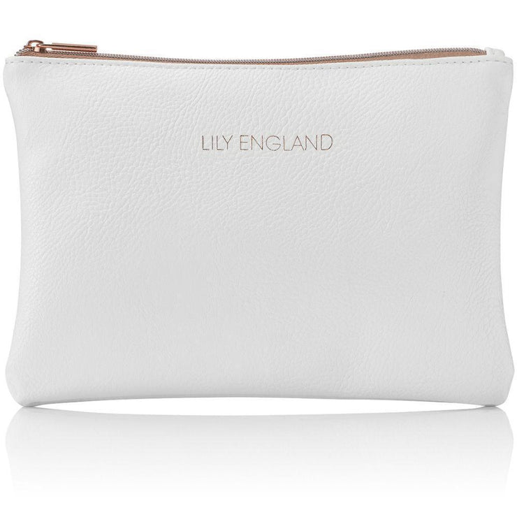 Makeup Bag Pouch - White & Rose Gold