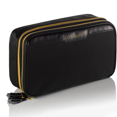 Large Makeup Bag Organiser - Black & Gold