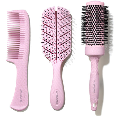 Eco Kind Hair Brush Set - Pink