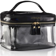 3-in-1 Clear Travel Makeup Bags - Black and Gold