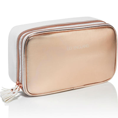 Large Makeup Bag Organiser - Rose Gold
