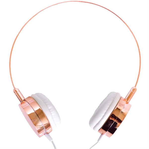 Rose Gold Headphones With Microphone