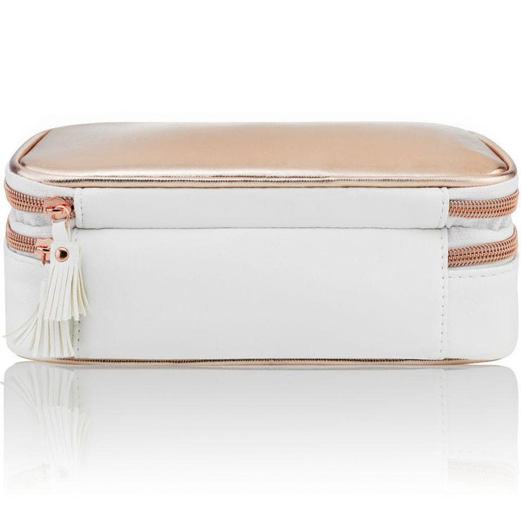rose gold makeup bag organiser organizer case white