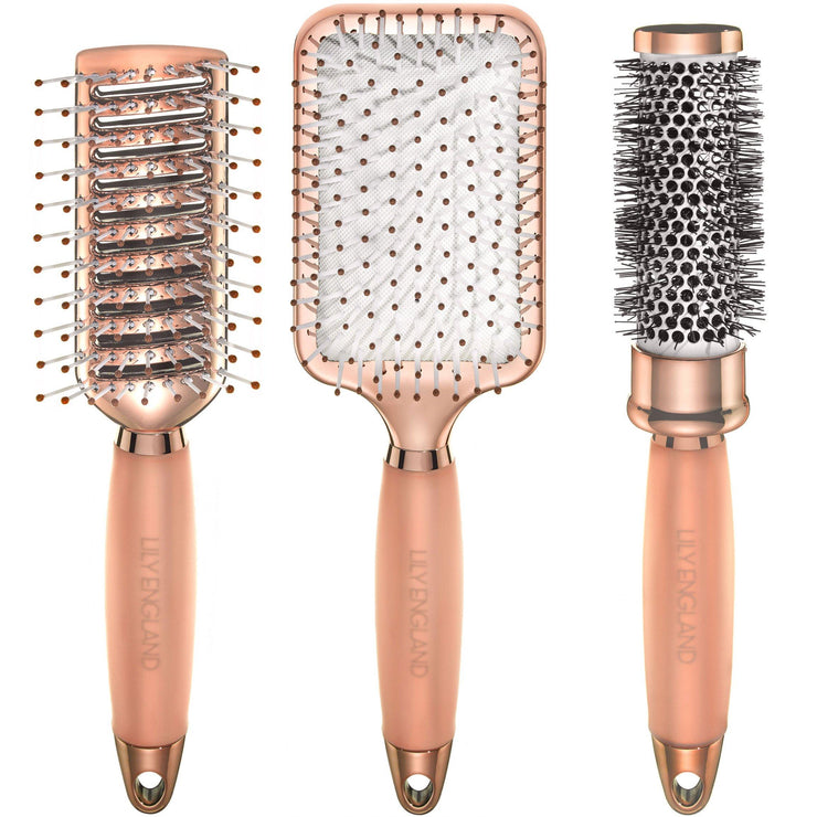 Luxury Hair Brush Set - Rose Gold