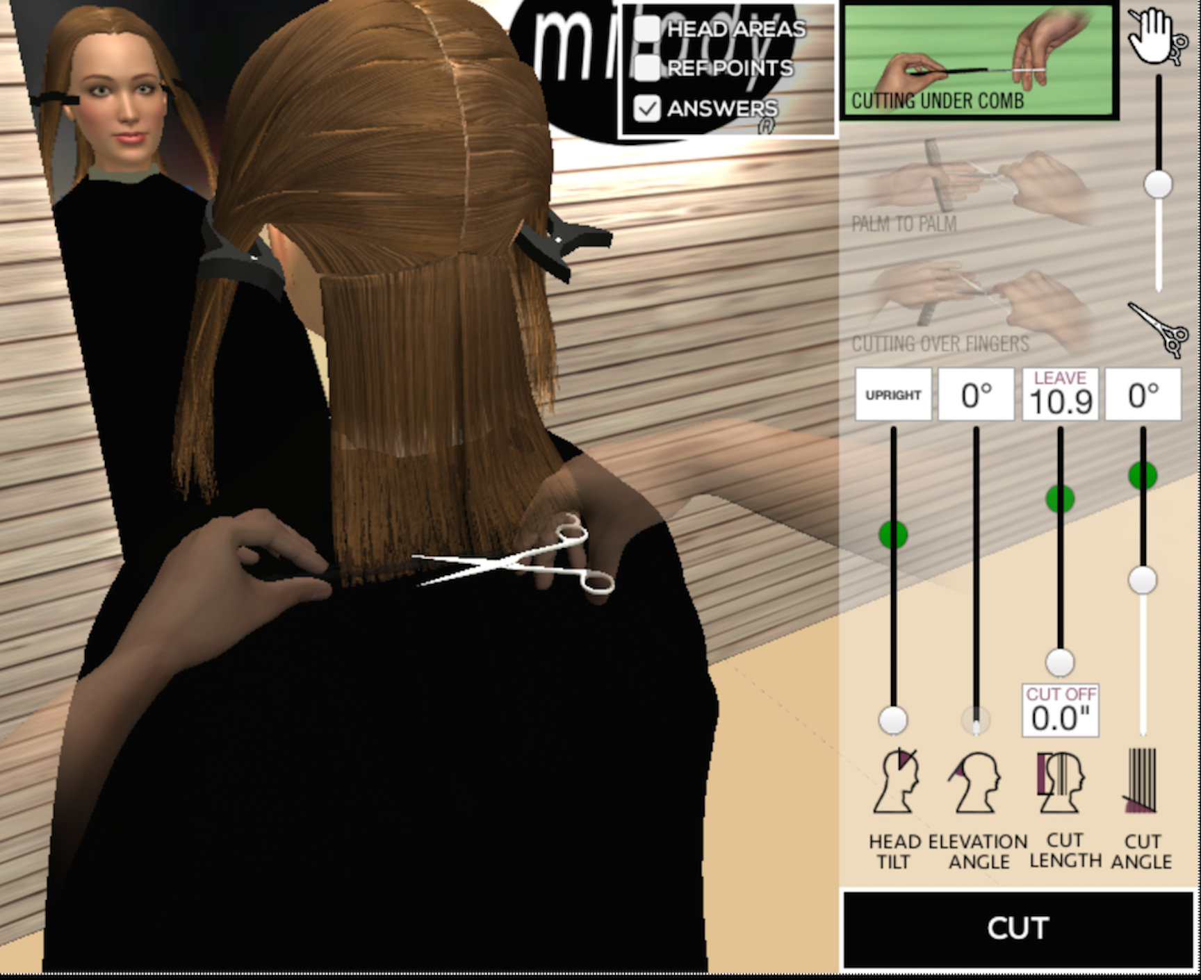 Milady Online Haircutting Simulation