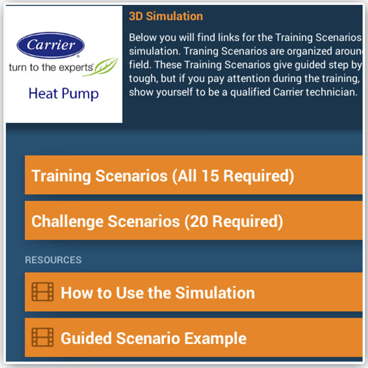 Carrier Infinity 18VS Heat Pump Training Course