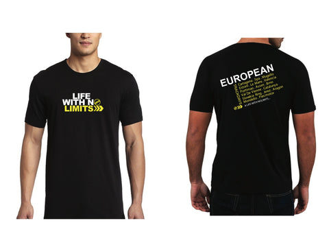 No Limits Destination European Tour T-Shirt