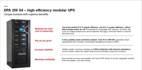 ABB Modular UPS. Expandability, Availability, Efficiency, Servicability. Protection from Blackouts & electricity problem