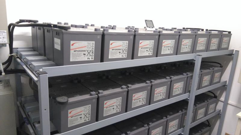 UPS depend on good SLA batteries to protect against blackouts and electricity problems. Special racks are used.