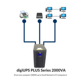 On Line Double Conversion UPS - digiUPS DG 2000+ Series, Tower
