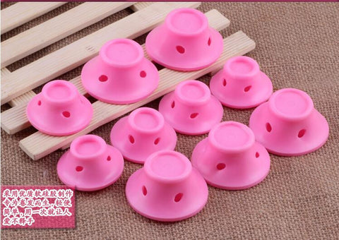 Set of Rubber Hair Curlers