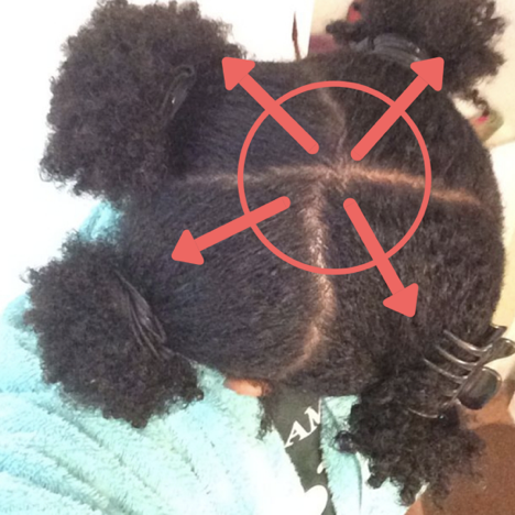 Natural Hair Crown Breakage Caused By Parting