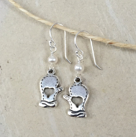 Classic Mitten Dangle Earrings