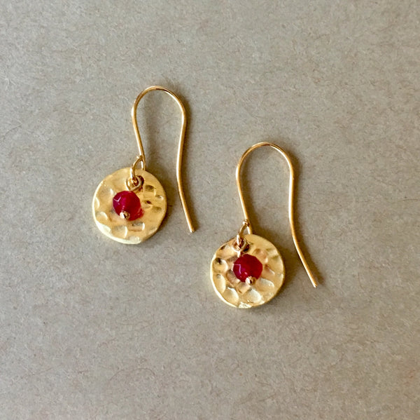 Birthstone Earrings (Gold)