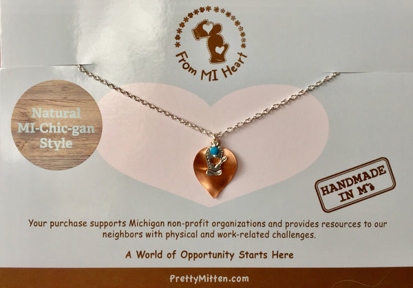 Copper & Mitten Necklace