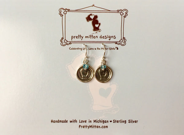 Mitten Wax Seal Earrings