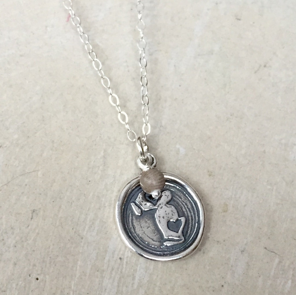 Mittens Wax Seal Necklace (Large)