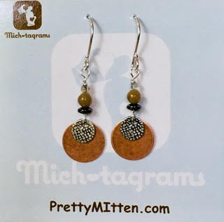 Petoskey & Copper Dangle Earrings