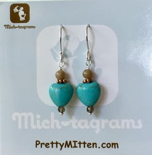 Petoskey & Turquoise Earrings