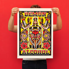"BRIKO ""Demon Alcohol"" Screen Print"