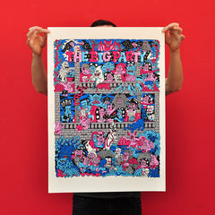 "OLIVIER CHAOS ""The Big Party"" Screen Print"