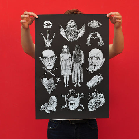"Fortifem ""Horror Movies"" Screen Print"