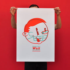 "WOOD CAMPERS ""Wait & See"" Screen Print"