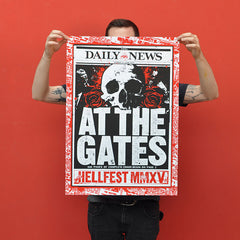 "AT THE GATES ""Hellfest 2015"" Screen Print"