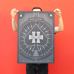 "HELLFEST ""Hellfest 2016 by Mush"" Screen Print"