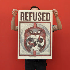 "REFUSED ""Hellfest 2016"" Screen Print"