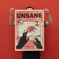 "UNSANE ""Hellfest 2016"" Screen Print"