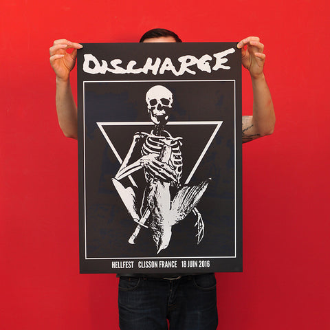 "DISCHARGE ""Hellfest 2016"" Screen Print"