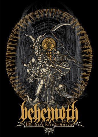 "BEHEMOTH ""Hellfest 2017"" Screen Print"