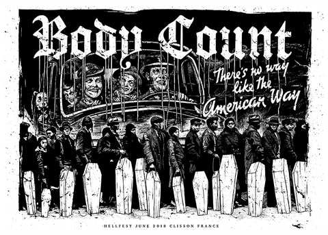 "BODY COUNT ""Hellfest 2018"" Screen Print"