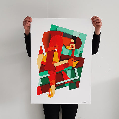 "BREZ ""Vie Moderne "" Screen Print"
