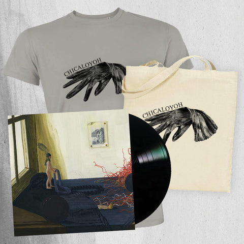 "CHICALOYOH ""LP Men T-shirt & Tote Bag"" Bundle"