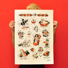 "OLIVIER CHAOS ""Classic Stuff 2"" Screen Print"