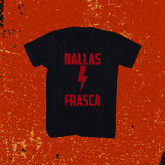 "DALLAS FRASCA ""LIGHTHENING BOLT"" Black T-shirt"