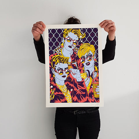 "FREAK CITY ""Girlz"" Screen Print"