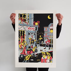 "FREAK CITY ""La Zone"" Screen Print"