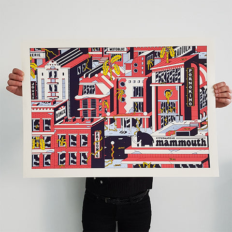 "FREAK CITY ""Pornokino"" Screen Print"