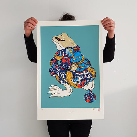 "JEE SALAYERO ""Shitting Tattoo Frog"" Screen Print"