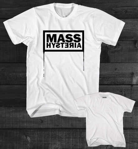 "MASS HYSTERIA ""Coulure"" T-shirt blanc/white"