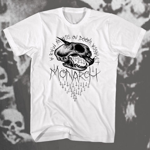 "MONARCH ""Mass Öv Dööm"" T-shirt"
