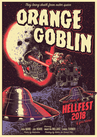 "ORANGE GOBLIN ""Hellfest 2018"" Screen Print"