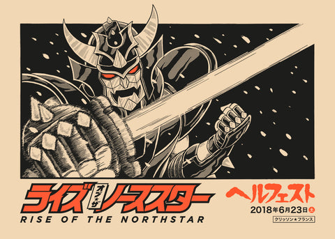 "RISE OF THE NORTHSTAR ""Hellfest 2018"" Screen Print"