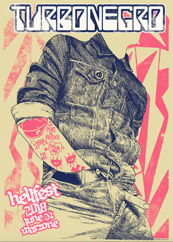 "TURBONEGRO ""Hellfest 2018"" Screen Print"