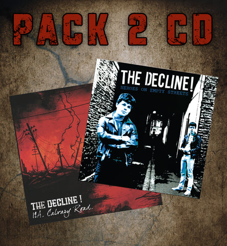 "THE DECLINE ! ""12A, Calvary Road"" + ""heroes..."" CD PACK !"