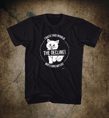 "THE DECLINE ! ""Poch Cat"" Men T-shirt"