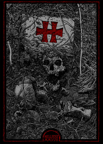 "HELLFEST ""Official Poster 2017"" Screen Print (Ammo)"